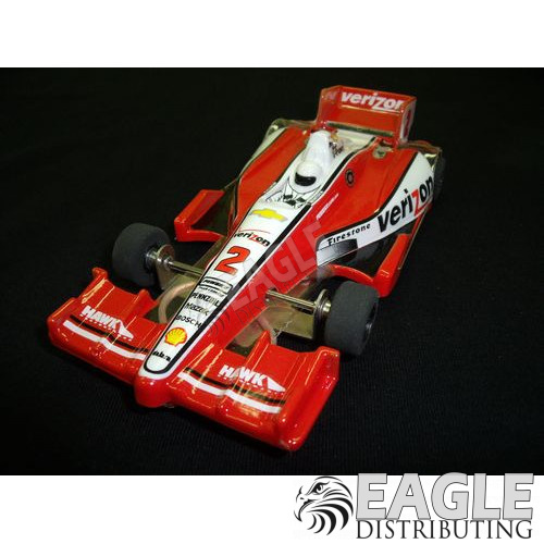 1:24 Scale Wide Indy Open Wheel RTR Car #2 Verizon (Red)-JK2081722