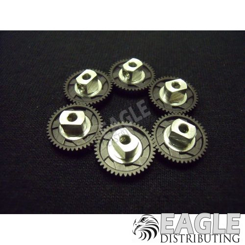 43 Tooth, 80 Pitch, 3/32 Bore Straight Polymer Spur Gear