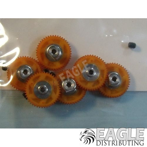 45 Tooth, 80 Pitch, 2mm Bore Straight Polymer Spur Gear