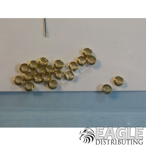 "3/32"" Brass wheel collars (20 pcs)"