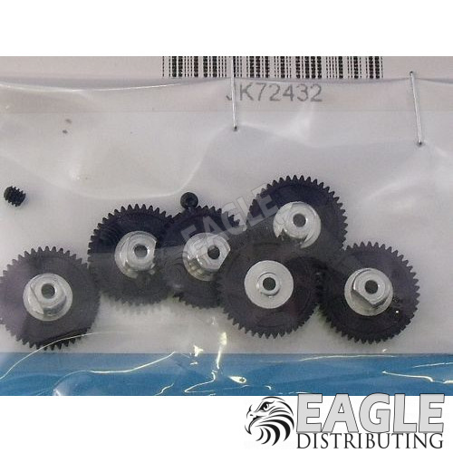 43 Tooth, 72 Pitch, 2mm Bore Straight Polymer Spur Gear