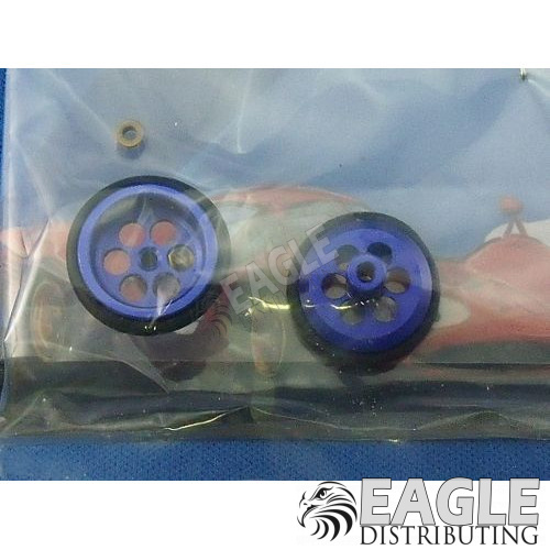 1/16 x 5/8 Blue Drilled Alum. O-ring Fronts-JK8722DBL