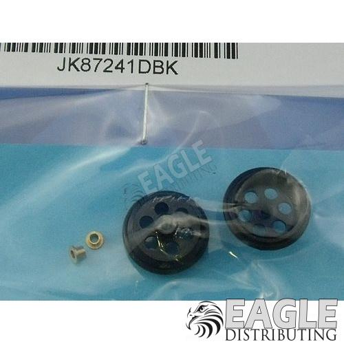 1/16 x 5/8 Black Drilled Front Wheels-JK87241DBK