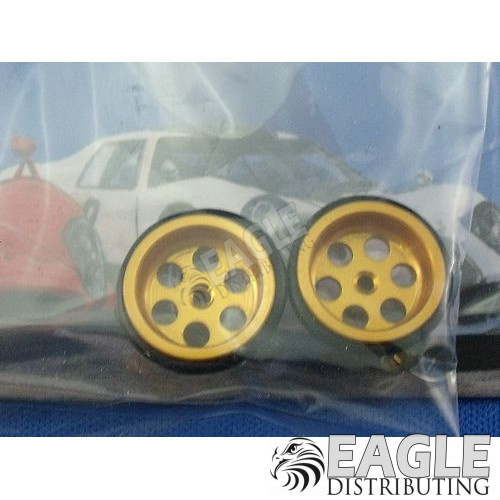 1/16 x 5/8 Gold Drilled Front Wheels-JK87241DG