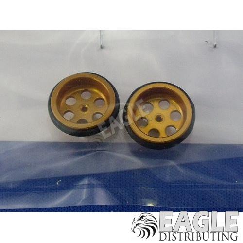 .047 x 5/8 Gold Drilled Front Wheels-JK87242DG