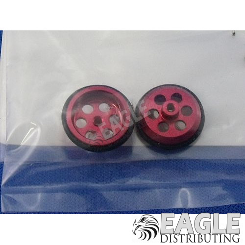 .047 x 5/8 Red Drilled Front Wheels-JK87242DR