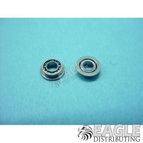 3/32 x 3/16 Narrow Axle Ball Bearings, Flanged-KM235
