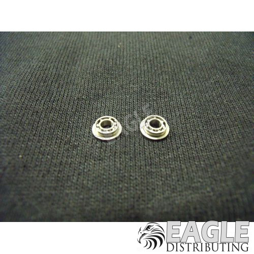 3/32 d 3/16 Premium Narrow Axle Ball Bearings, Flanged-KM301