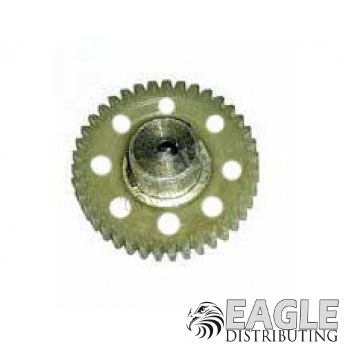 39 Tooth, 64 Pitch Drilled Polymer Spur Gear