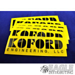 Koford Yellow Stickers (6)