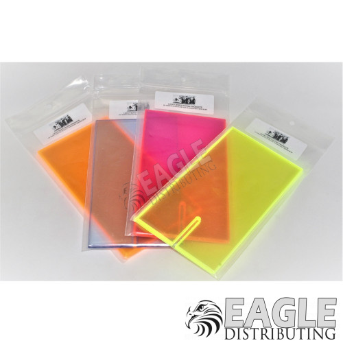 Acrylic Block Fluorescent Orange