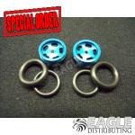 1/16 x 5/8 Blue Daytona Stockers O-ring Fronts