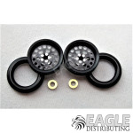 3/8 x 1/16 Black Wheelie Wheel