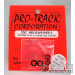 3/8 x 1/16 Red Wheelie Wheel ProTrack Corporation PRO208AR