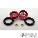 3/8 x 1/16 Red Top Fuel Wheelie Wheels-PRO208AR