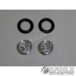 .050 x 3/8 x 1/16 Star Wheelie Wheel Kit