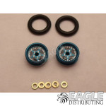 .050 x 3/8 x 1/16 Blue Star Wheelie Wheel Kit