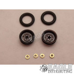 .050 x 3/8 x 1/16 Black Star Wheelie Wheel Kit