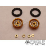 Star Series Wheelie bar wheels, 3/8, Gold