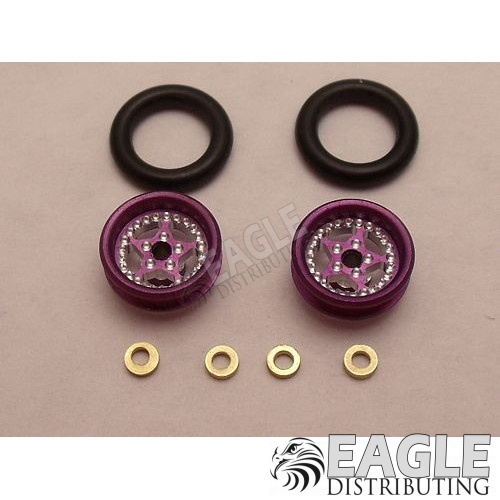 Star Series Wheelie bar wheels, 3/8, Purple