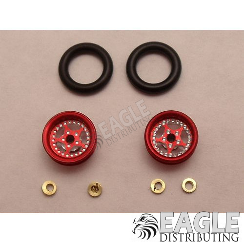 Star Series Wheelie bar wheels, 3/8, Red