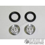 .050 x 3/8 x 1/16 Turbine Wheelie Wheel Kit