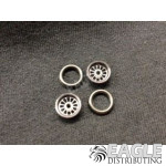 .050 x 3/8 x 1/16 Black Turbine Wheelie Wheel Kit