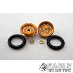 3/8 x 1/16 Gold Wheelie Wheel