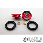 .050 x 3/8 x 1/16 Red Classic Wheelie Wheel Kit