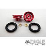 3/8 x 1/16 Red Wheelie Wheel