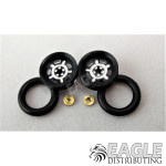 .050 x 3/8 x 1/16 Black Daytona Wheelie Wheel Kit