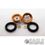 .050 x 3/8 x 1/16 Gold Daytona Wheelie Wheel Kit