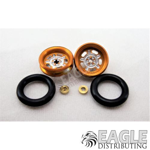 3/8 x 1/16 Gold Wheelie Wheel ProTrack Corporation PRO208HG
