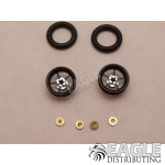 .050 x 3/8 x 1/16 Black Pro Star Wheelie Wheel Kit