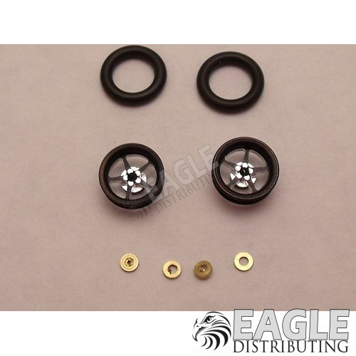 Pro Star Series Wheelie bar wheels, 3/8, Black