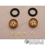 .050 x 3/8 x 1/16 Gold Pro Star Wheelie Wheel Kit