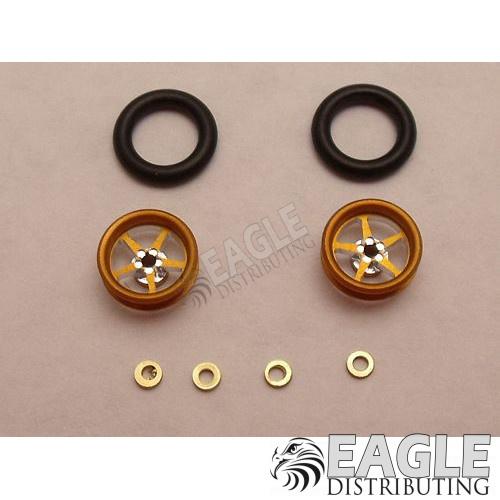 Pro Star Series Wheelie bar wheels, 3/8, Gold