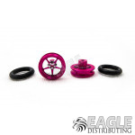 3/8 x 1/16 Pink Wheelie Wheels