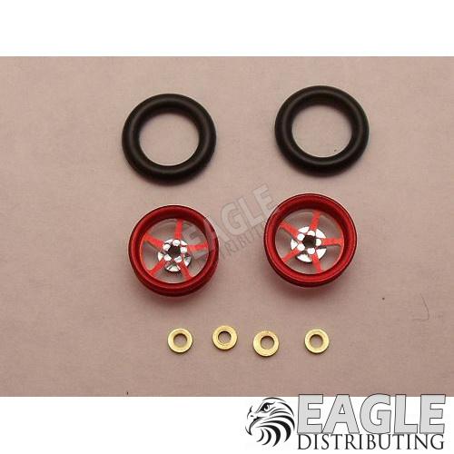 Pro Star Series Wheelie bar wheels, 3/8, Red