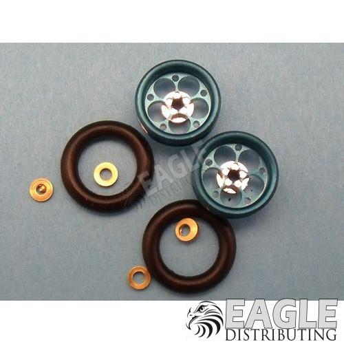 Magnum Series Wheelie bar wheels, 3/8, Blue Anodized