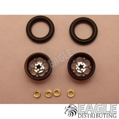 Magnum Series Wheelie bar wheels, 3/8, Black