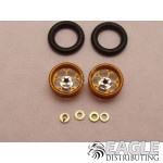 .050 x 3/8 x 1/16 Gold Magnum Wheelie Wheel Kit