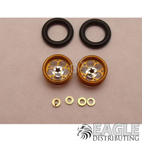 Magnum Series Wheelie bar wheels, 3/8, Gold