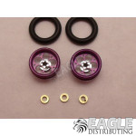 .050 x 3/8 x 1/16 Purple Magnum Wheelie Wheel Kit