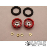 .050 x 3/8 x 1/16 Red Magnum Wheelie Wheel Kit