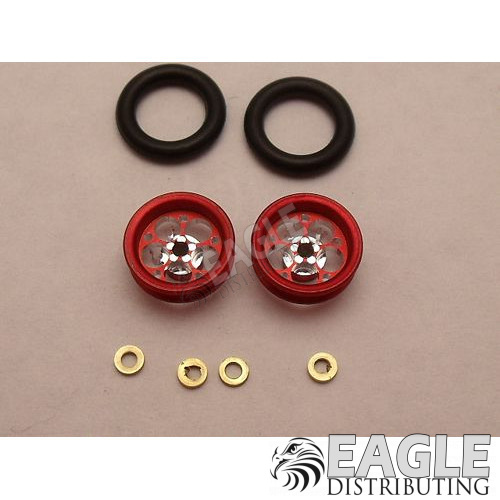 Magnum Series Wheelie bar wheels, 3/8, Red