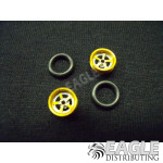 .050 x 3/8 x 1/16 Gold Evolution Wheelie Wheel Kit