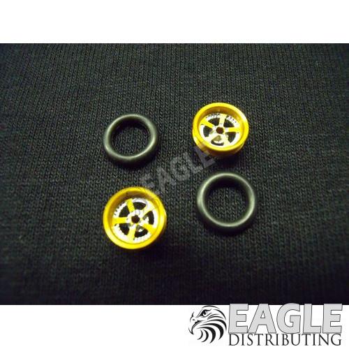 Evolution Series Wheelie bar wheels, 3/8, Gold