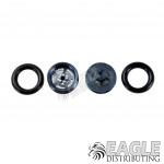 .050 x 3/8 x 1/16 Gunmetal Evolution Wheelie Wheel Kit