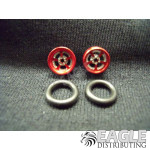 .050 x 3/8 x 1/16 Red Evolution Wheelie Wheel Kit